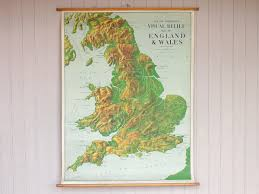 Wales England Map by Vintage Canvas England And Wales Wall Map Sold Scaramanga