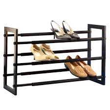 Shoe Rack by Walnut 3 Tier Grippy Shoe Rack The Container Store