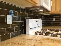 Kitchen With Glass Tile Backsplash Touchdown Tile