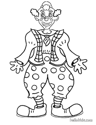 smiling clown coloring pages hellokids