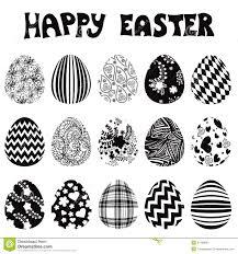 easter egg ornaments easter egg set silhouette stock vector image 51266897