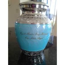 infant urns infant small blue and silver urn for ashes