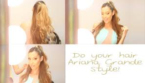 photos of arians hair diy how to do ariana grande s hair youtube