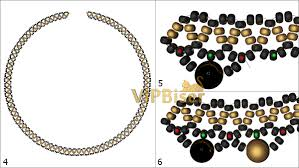 tutorial beading necklace images Beaded necklace cleo 3d tutorial jpg