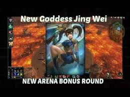 smite new goddess jing wei arena gameplay new bonus round youtube