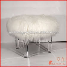 acrylic fur stool with tibet wool buy clear acrylic stools clear