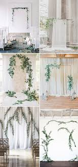 wedding backdrop modern simple chic organic minimalist weddings ideas for non
