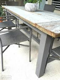 Rustic Wood Patio Furniture Dining Table Diy Wood Outdoor Dining Table Patio Plans Ideas Diy