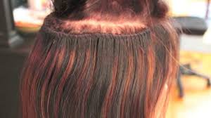 sewed in hair extensions caucasian track extensions braided sew in method
