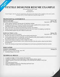 Business Analyst Job Resume by Textile Designer Resume Example Clothes Fashion Resumecompanion
