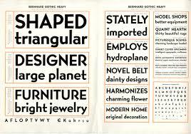 lucian bernhard type design on speed print magazine