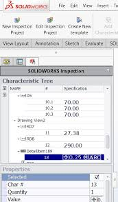 layout inspection report solidworks inspection 2018 engineers rule