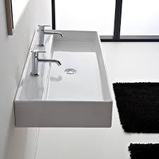 Sink With Double Faucet Scarabeo 8031 R 120b Bathroom Sink Teorema Nameek U0027s