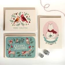 unique christmas cards buy christmas cards from these etsy sellers