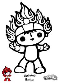 jingjing beijin olympic mascot coloring pages hellokids com