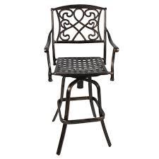 Outdoor Swivel Bar Stool Outdoor Cast Aluminum Swivel Bar Stool Patio Furniture Antique