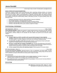Social Media Resume Template Resume Sample Online Marketing Eliolera Com