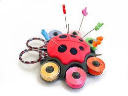 amazon com ladybug sewing organizer by smartneedle a beautiful