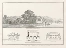 schinkel lusthause project near potsdam c 1825 plan