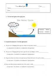 Water Cycle Worksheet Pdf Water Cycle Worksheet By Niapt