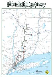 New York Central Railroad Map by The Housatonic Railroad Inc 860 824 0850