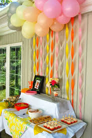 homemade decoration ideas for birthday party wall decor wall party