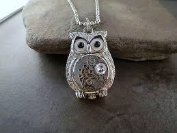 steampunk owl necklace images Handmade antique silver steampunk owl necklace urban metal designs jpeg