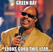 Green Bay Memes - green bay looks good this year meme stevie wonder 58498