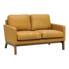 2 seater cove scandinavian danish retro modern pu leather lounge