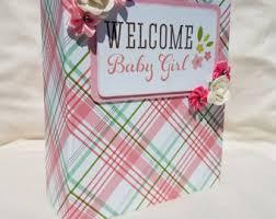 baby girl scrapbook album baby scrapbook etsy