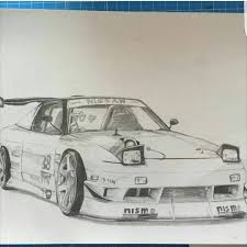 nissan silvia drawing jdm draw nissan on instagram