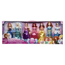 amazon com disney princess royal doll collection 7 pack toys u0026 games