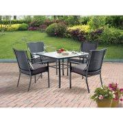 5 patio set mainstays alexandra square 5 patio dining set grey with