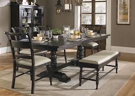 trestle dining table set liberty furniture whitney 6 piece trestle table set with bench