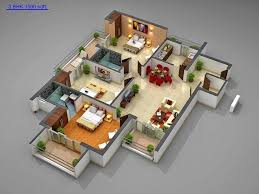 Residential House Plans In Bangalore 68 Best 3d Floor Plan Images On Pinterest 1 Bedroom Apartment