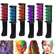 hair chalk comb disposable instant hair color chalk comb shimmer