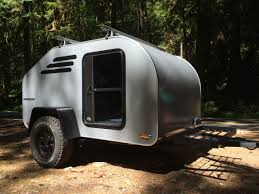 subaru camping trailer terradrop off road capable overland inspired teardrop trailer