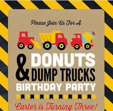 pagmina carter u0027s 3rd birthday party donuts u0026 dump trucks
