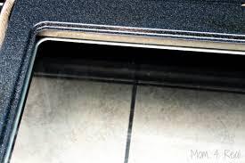 clean oven glass door how to clean an oven door in between the glass mom 4 real
