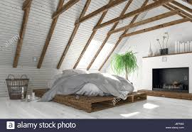 Attic Bedroom by Concept Of Attic Bedroom With White Walls Minimalist Interior