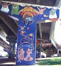 mujeres muralistas chicano park female artists la prensa san diego women s mural female inteligencia or women hold up half the sky 1975 painted by the women of the rcaf celia rodriguez irma lerma barbosa