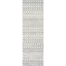 Grey Runner Rug Nuloom Geometric Moroccan Grey Runner Rug 2 8 X 8 Water