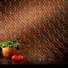 Copper Kitchen Backsplash by Fasade 24 In X 18 In Traditional 1 Pvc Decorative Backsplash