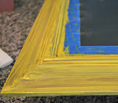 diy decor how to update a framed mirror with chalk paint this