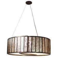 Light Drum Pendant Varaluz Affinity 5 Light New Bronze Drum Pendant With Towers Of