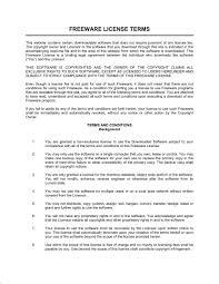 freeware license terms template u0026 sample form biztree com