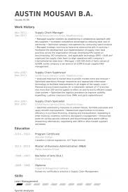 Director Resume Examples by Supply Chain Manager Resume Samples Visualcv Resume Samples Database