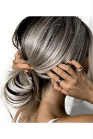 hairstyles with grey streaks grey is the new answer pearls gray and hair style