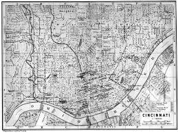 Map Of Cincinnati Ohio by Streets Main