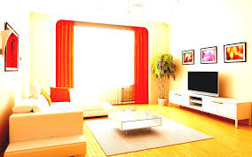rich home decor mesmerizing simple modern living room with orange curtains furnished
